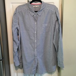 Old Navy Womans XXL Striped Button Up Top
